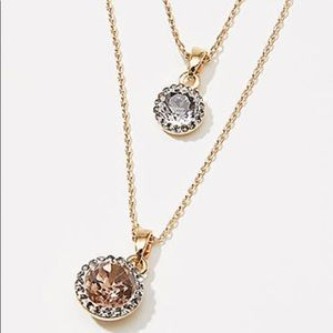 LOFT Layered Sparkle Delicate Necklace Set Gold
